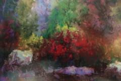 JaniceHamilton-The-Red-Bush-PastelGraphics-350