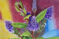SteveSanderson-Purple-Blooms-CollageMixedMedia-125