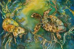 Kay_Hoag-In-the-Swim-Collage-MixedMedia-250